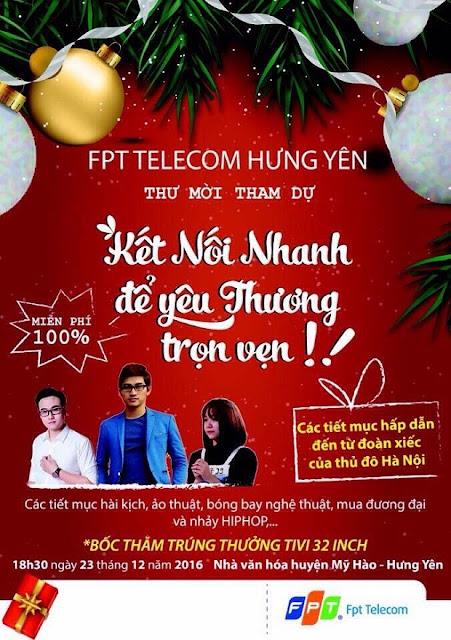Công Ty FPT Telecom Hưng yên Tổ Chức Đêm Nhạc Giáng Sinh