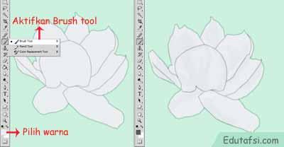 Menggambar bunga melati dengan photoshop