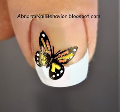 Nature nail art spring and summer nails