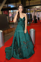 Raashi Khanna in Dark Green Sleeveless Strapless Deep neck Gown at 64th Jio Filmfare Awards South ~  Exclusive 163.JPG