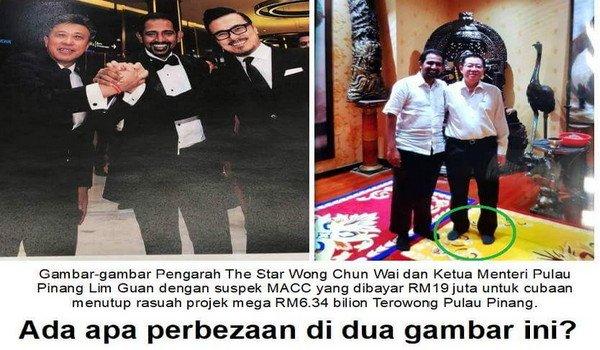 Tai Chi Lim Guan Eng bergambar dengan suspek penerima rasuah kes terowong Pulau Pinang gagal lagi