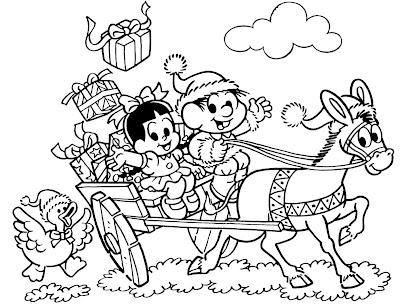 Turma Da Monica Para Colorir No Natal Desenhos E Riscos