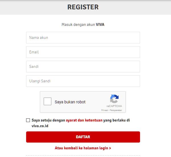 Cara registry viva