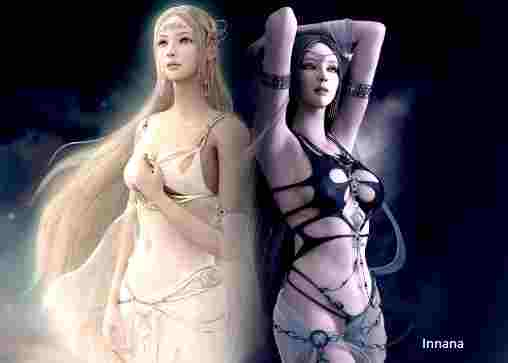 batalla entre la diosa innana y ereshkigal