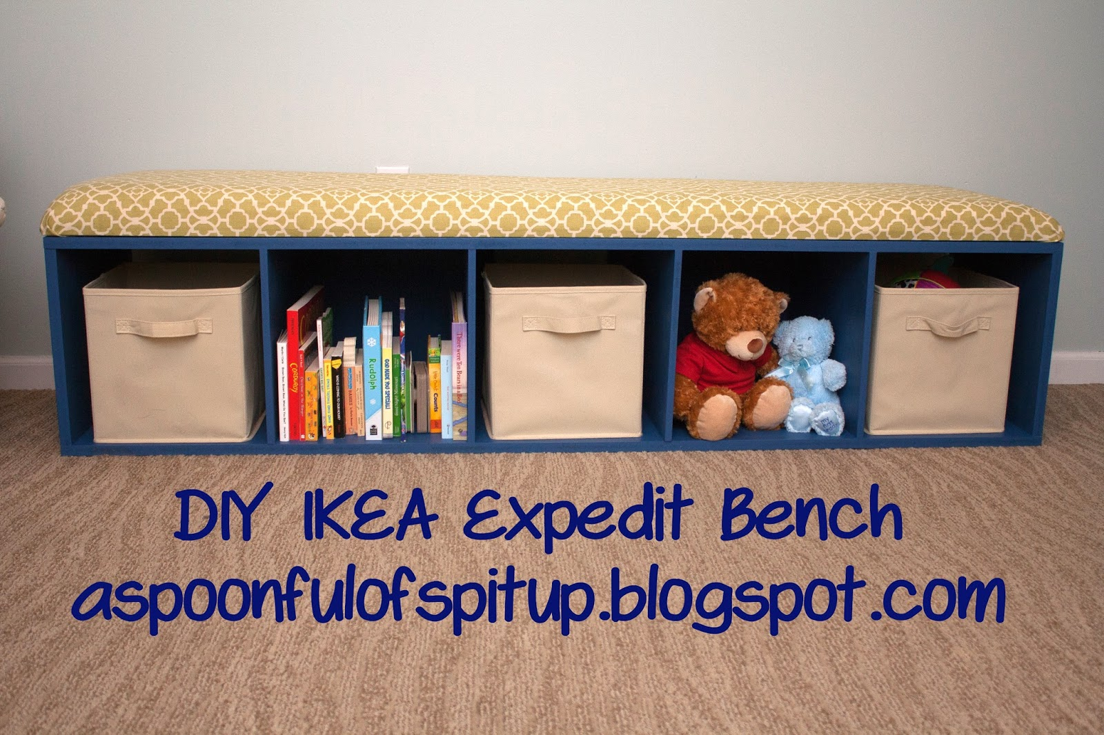 Ikea Expedit Cut In Half A Spoonful Of Spit Up Diy Expedit Bench