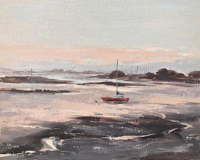 #152 Low Tide, Langstone Harbour 9.5×12″