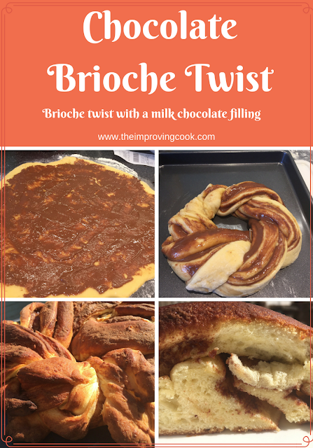 Chocolate Brioche Twist- pinnable image