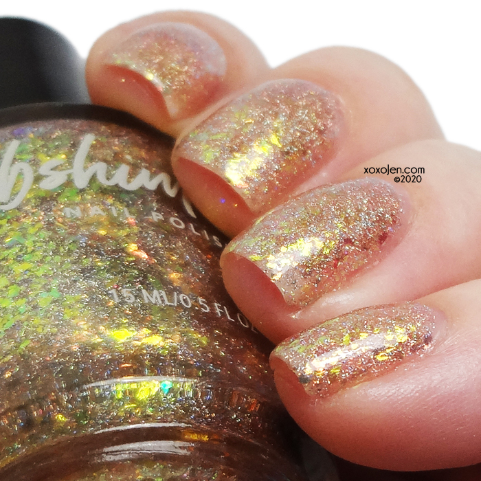 xoxoJen's swatch of KBShimmer A Love-Heat Relationship
