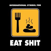 logotipo de sexo com fezes
