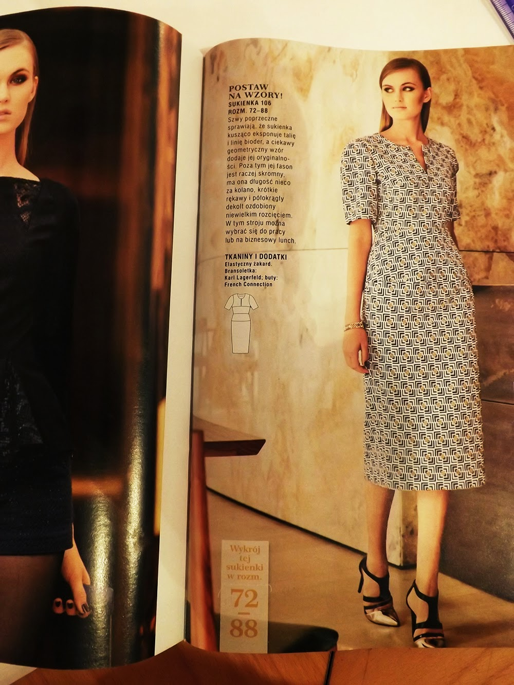 e05c112992 sukienka w ramach kolekcji plus z aktualnego wydania burdy