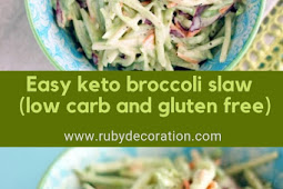 Easy keto broccoli slaw recipe (low carb and gluten free)