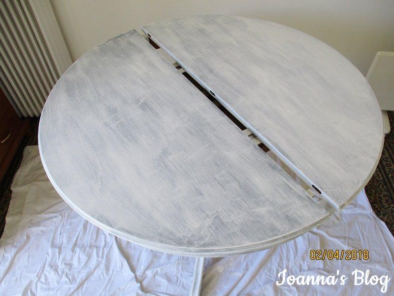 Μεταμόρφωση τραπεζαρίας με χρώμα κιμωλίας - τραπέζι -