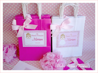 kit de comunión niña bolsas personalizadas