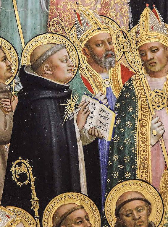 Santo Tomás de Aquino, detalhe, Fra Angelico (1395 – 1455), National Gallery de Londres