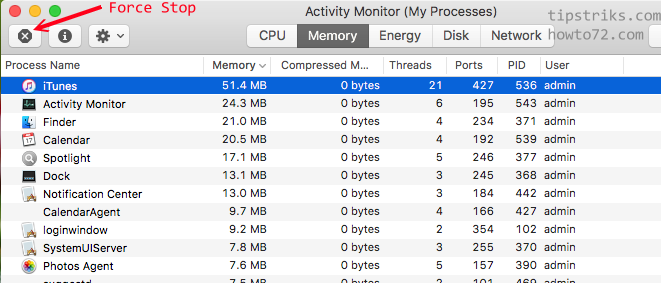 Task Manager in Mac OS - Computer & smartphone Tips Trick