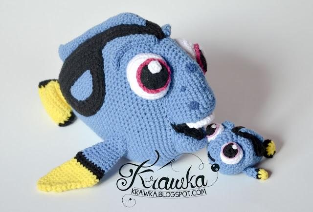Krawka: Baby Dory crochet free pattern by Krawka. Dory, finding nemo, disney