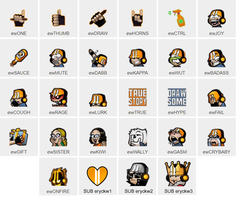 New Eryck Webb Twitch Channel Emotes are LIVE