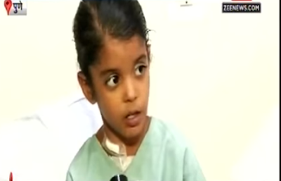 Seven year old Pune girl Vaishali was able to get treatment for her heart condition thanks to timely help from PM Modi.  The unfortunate girl was suffering from a hole in her heart which required surgery. Her poor family could not afford it.  Watching news one day, she says in the Zee News video below, she hit upon the idea of writing to Modi for help.
