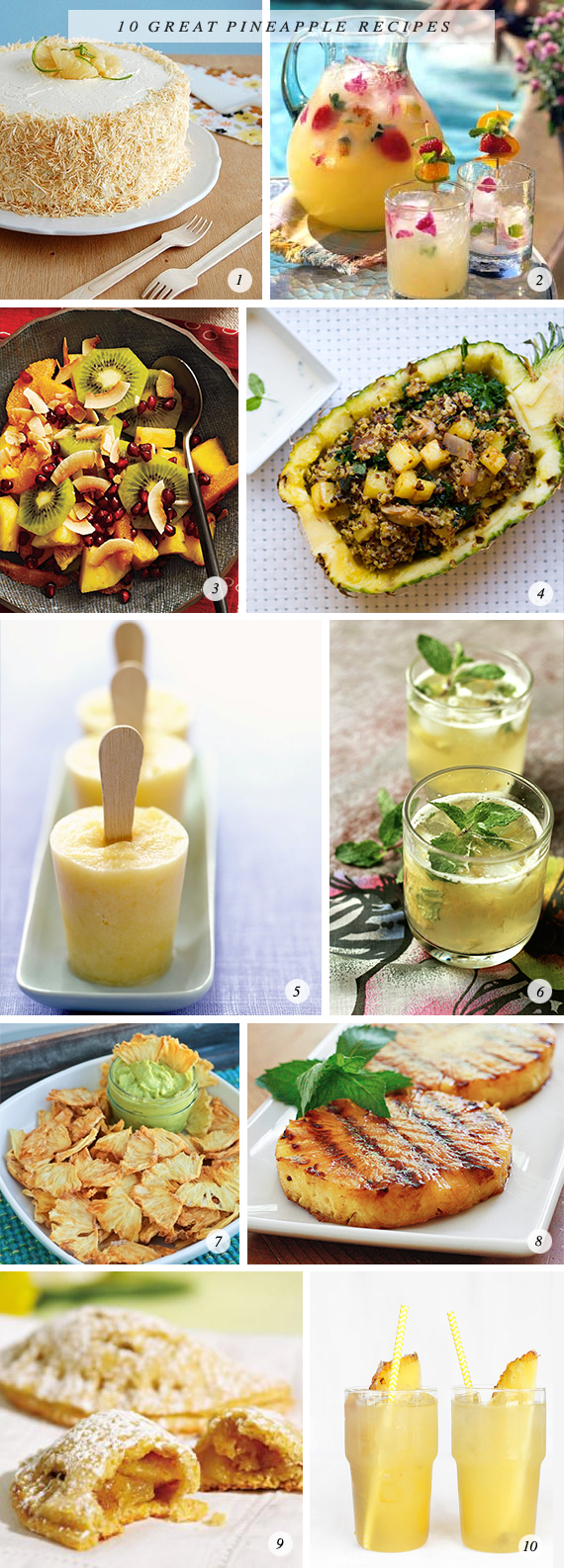 10 Great Pineapple Recipes // Bubby and Bean