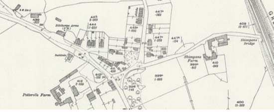 Screen grab of 1924 (revised 1922) 25 inch OS map