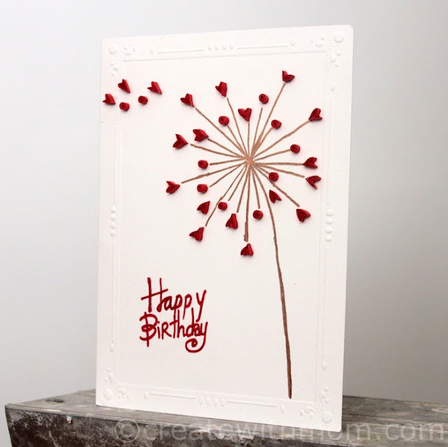 Quilled Dandelion Flower