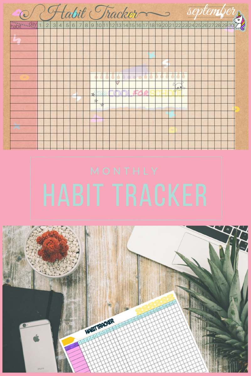 free printables imprimables gratuits habit trackers too cool for school