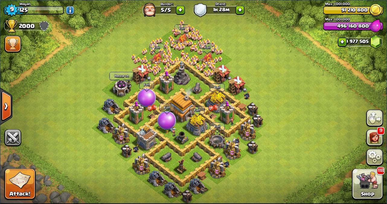 Base Coc Th 5 War Terkuat 9