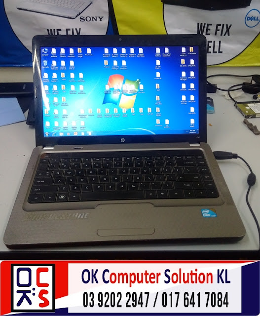 [SOLVED] SERVIS LAPTOP HP COMPAQ CQ42 | REPAIR LAPTOP CHERAS 10
