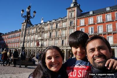Plaza Mayor em Madrid, na Espanha