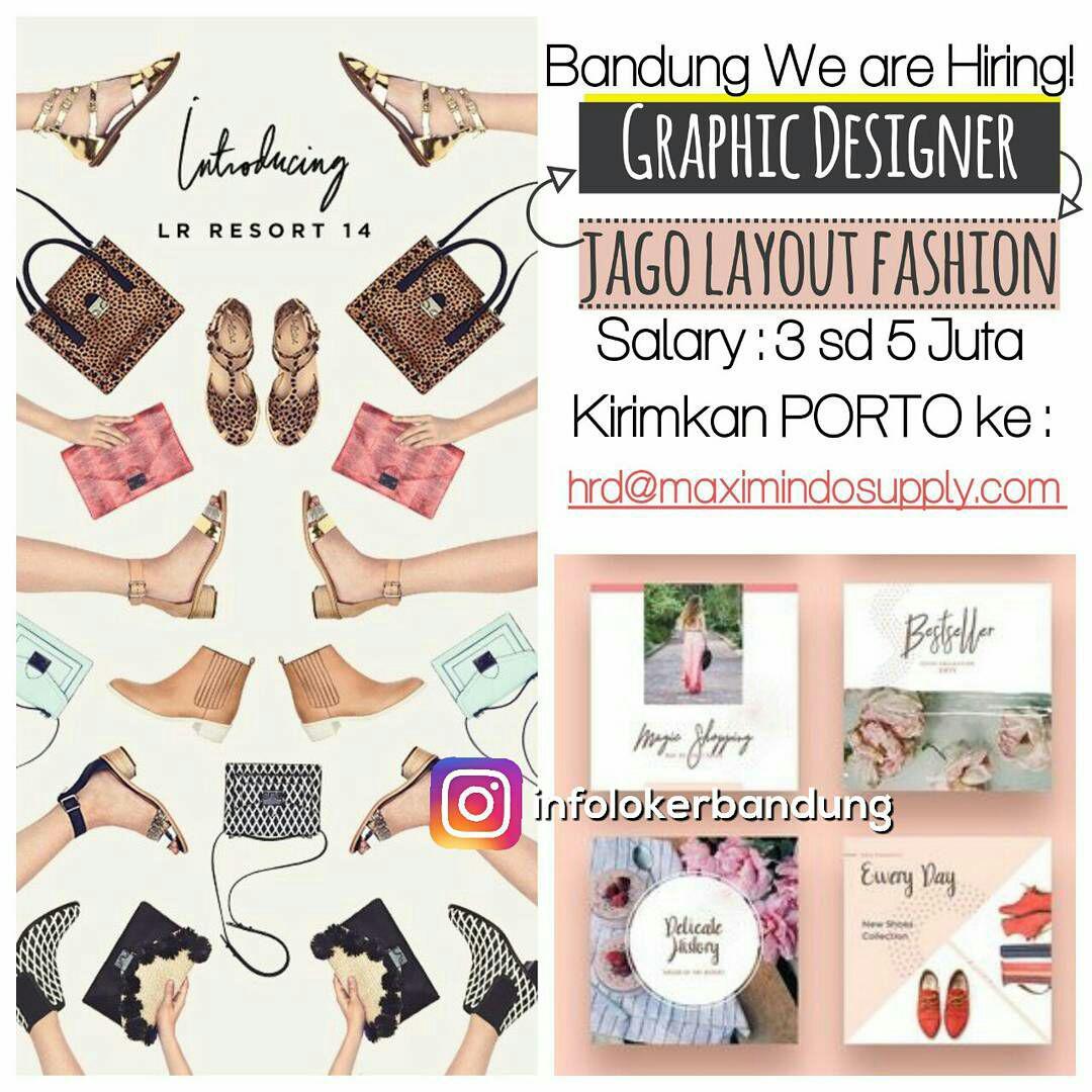 Lowongan Kerja Graphic Designer Maximindo Supply Bandung Juli 2017