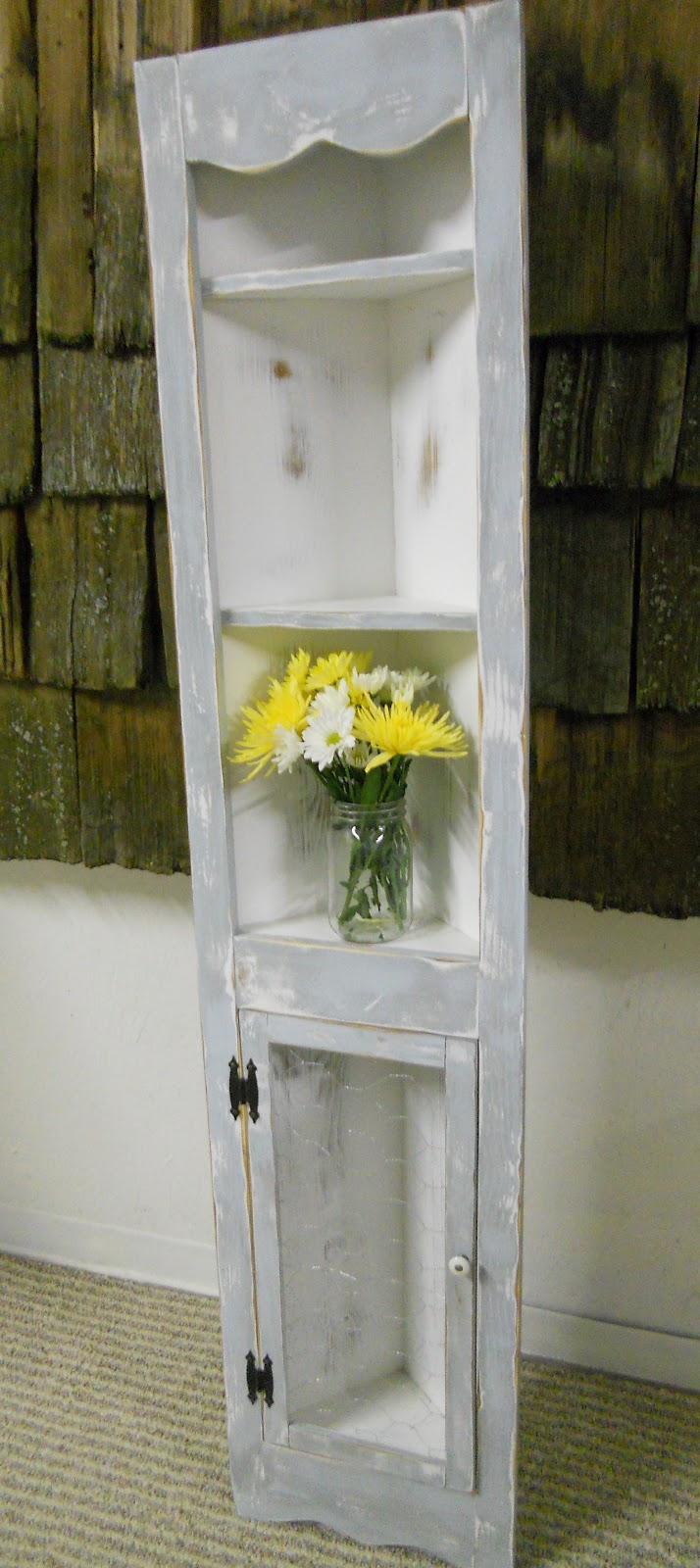 Createinspire French Country Corner Cabinet