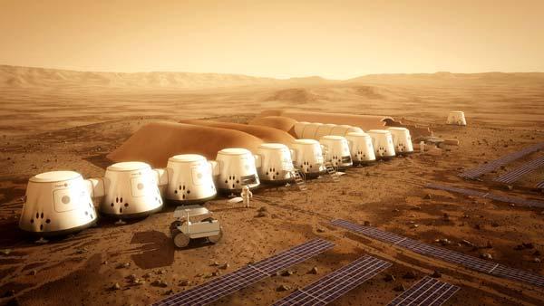 العيش في كوكب المريخ