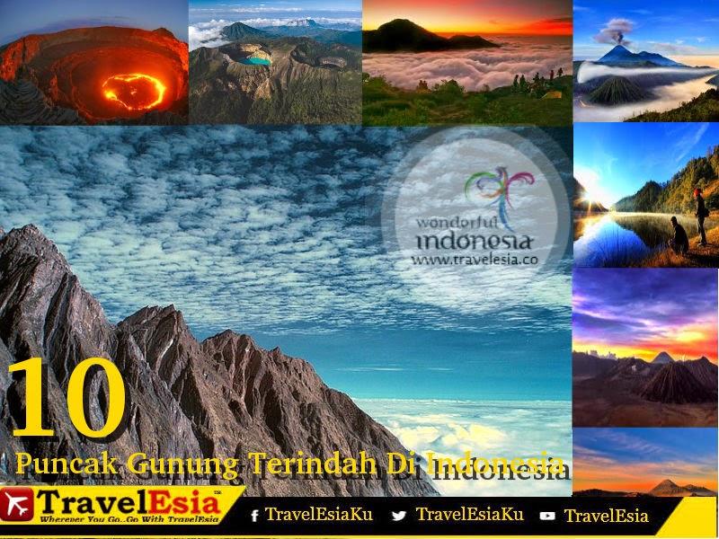 Puncak Gunung Terindah Di Indonesia