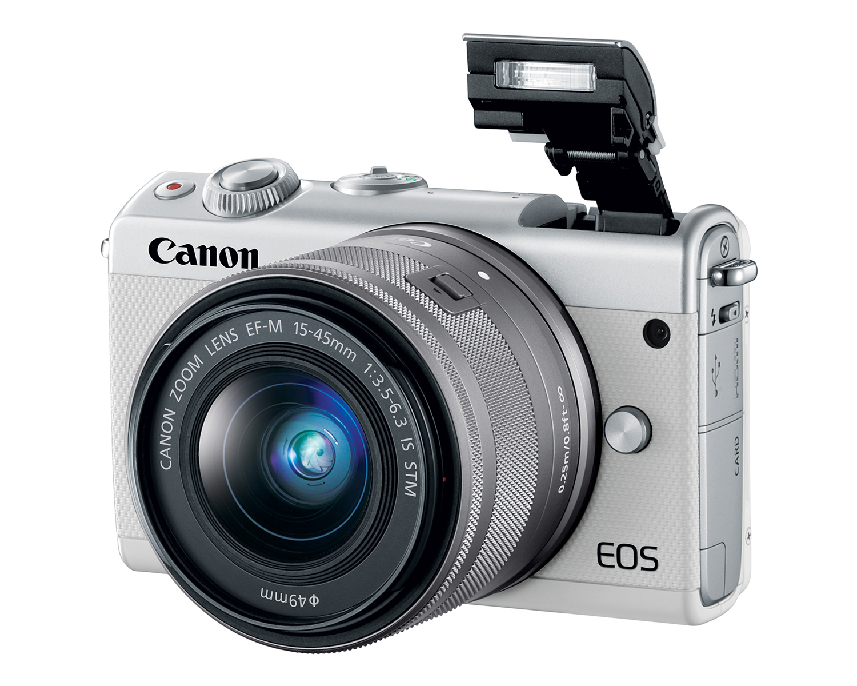 Canon EOS M100 белого цвета
