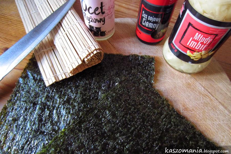 sushi z kaszą jaglaną
