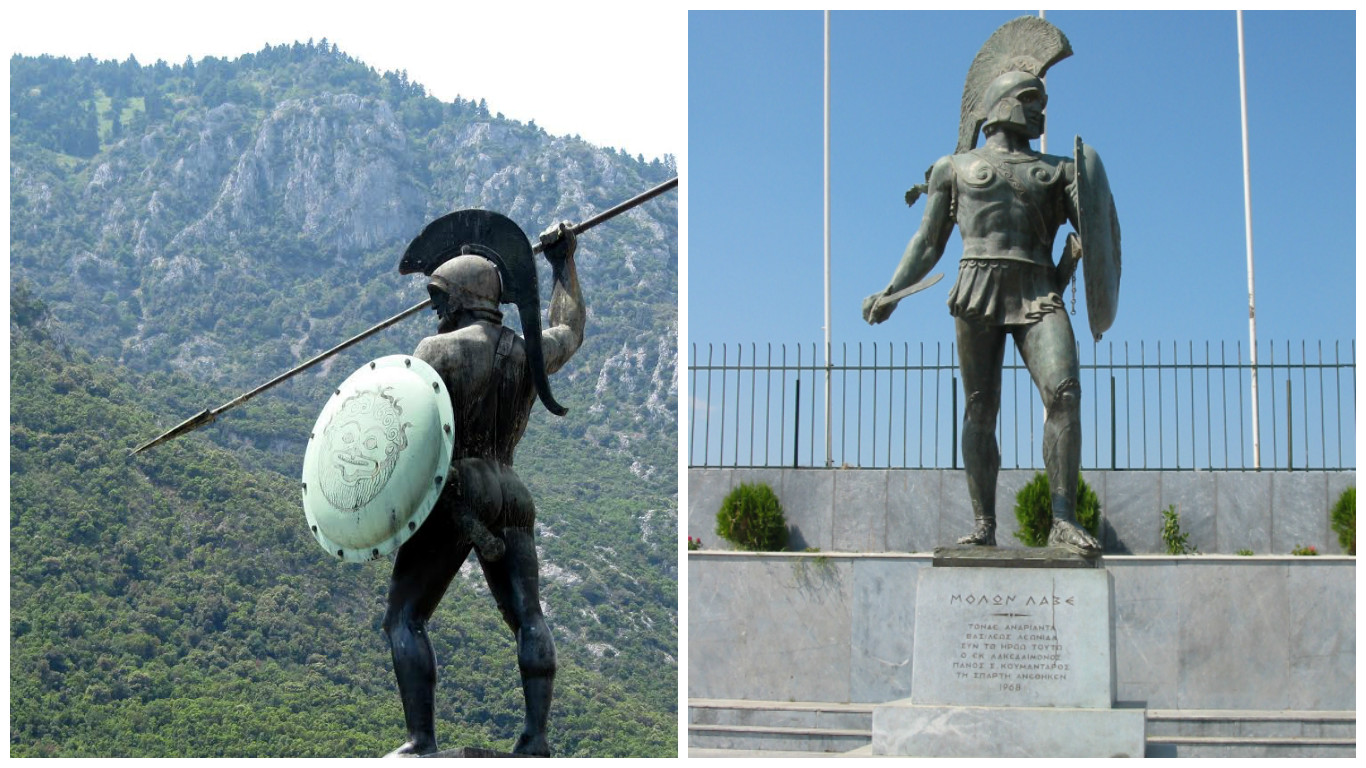 List of Synonyms and Antonyms of the Word: sparta statue