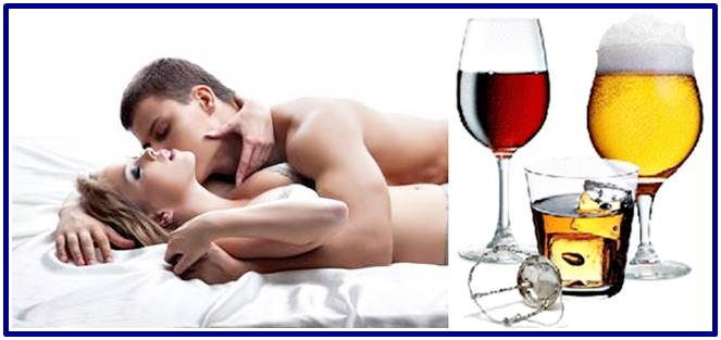 Effects of alcohol drinks during sex or intercourse