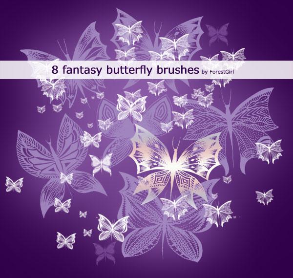Pinceles de mariposas surrealistas para Photoshop