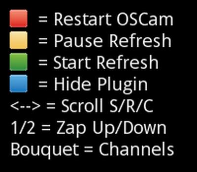 extensions de plugin enigma2 vue d'état d'OSCAM ابلوجين لمشاهدة حالة الأوسكام