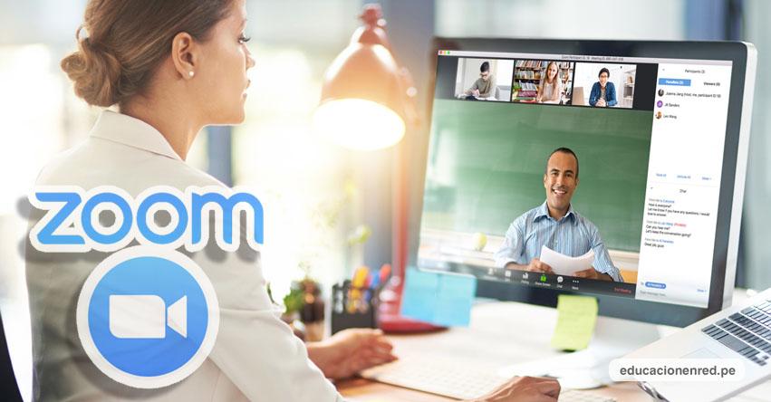 ZOOM - Descarga el aplicativo del sitio oficial: WWW.ZOOM.US