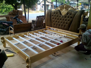 jual ranjang / tempat tidur murah bahan kayu jati