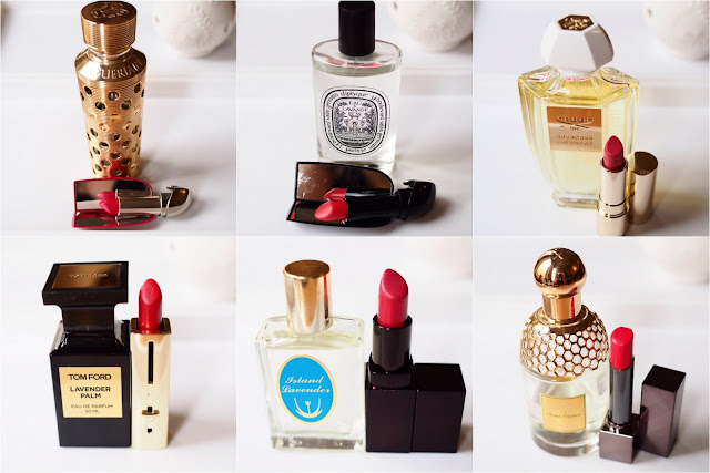 Lipstick and Fragrances from Guerlain, Diptyque, Creed, Clarins, Tom Ford, Caldey Island, Laura Mercier, Burberry,