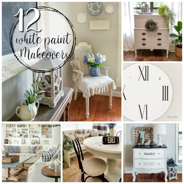 dramatic white paint makeover ideas