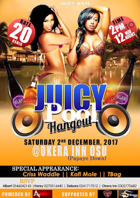 juicy pool hangout Accra