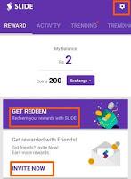 slide app referral link