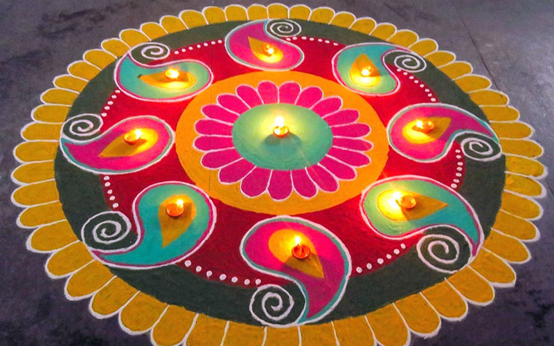 latest rangoli design images
