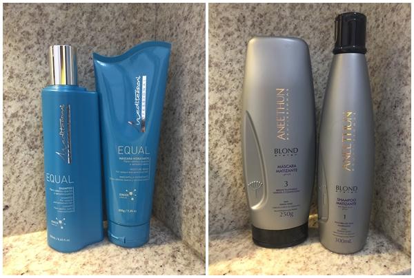 shampoo para cabelos com luzes