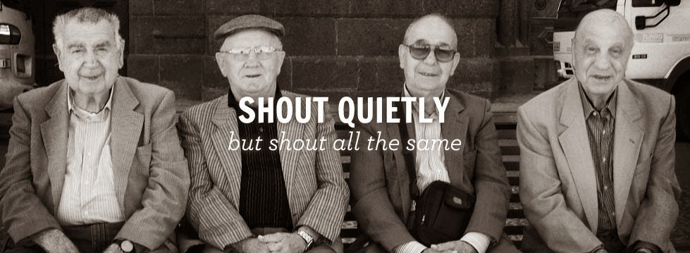 Shout Quietly Stylish Men