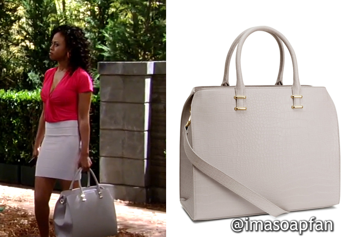 b429e1e1a400d7 Jordan Ashford s Grey Handbag - General Hospital