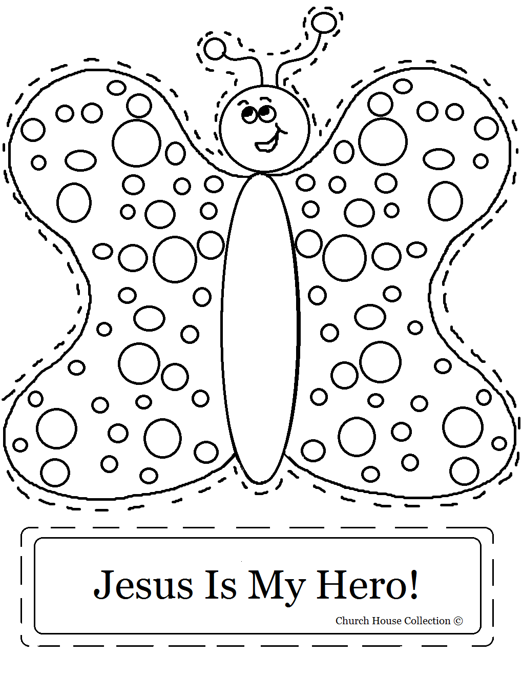 "church house collection blog ""jesus is my hero"" butterfly"